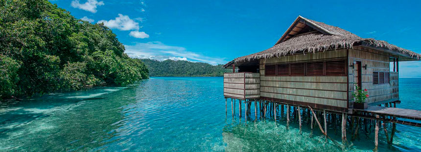 house on water - best time visit raja ampat