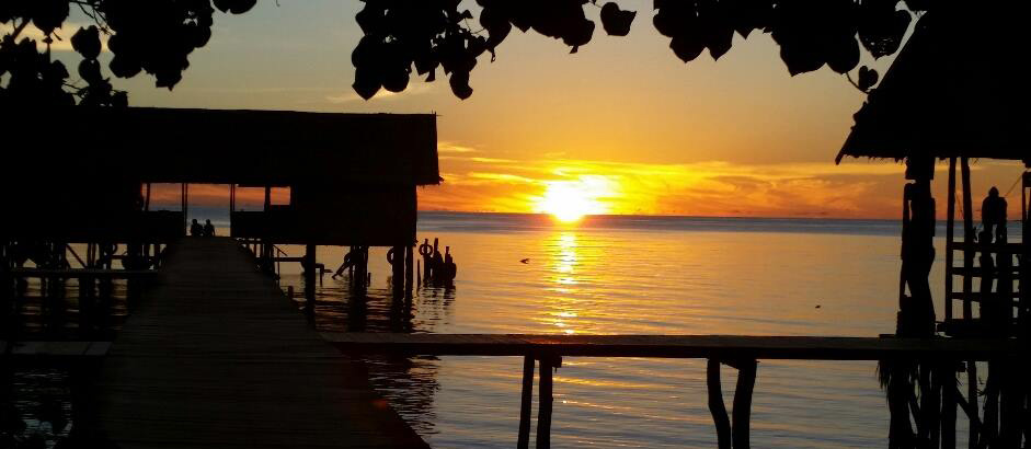 Natural Sunset in Papua Paradise Eco Resort