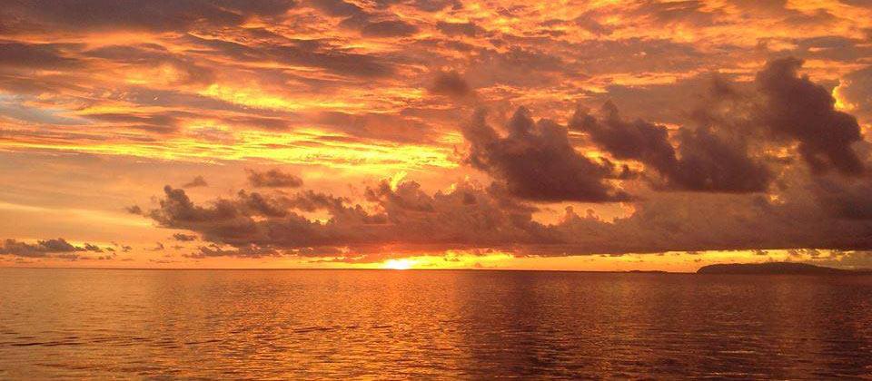 Sunset after diving raja ampat