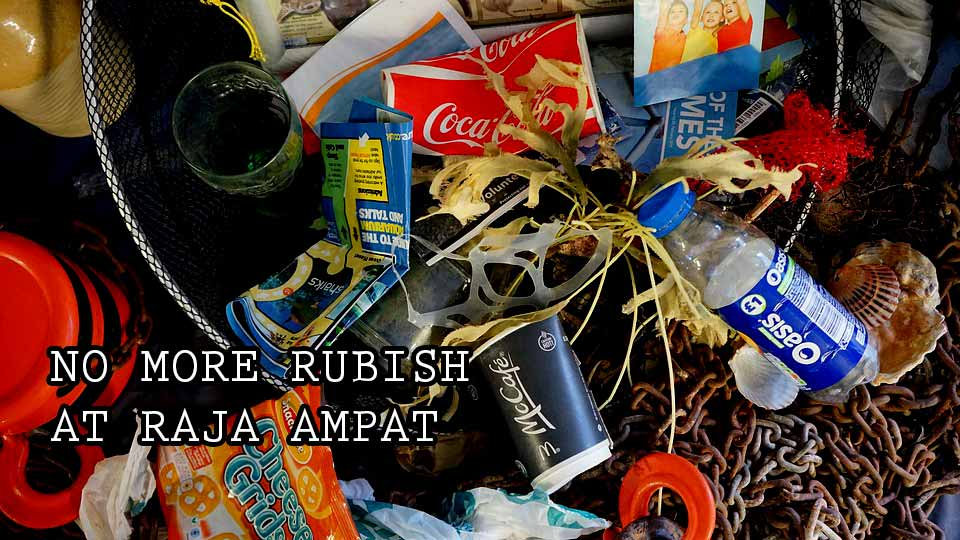 keep the environment when diving in raja ampat