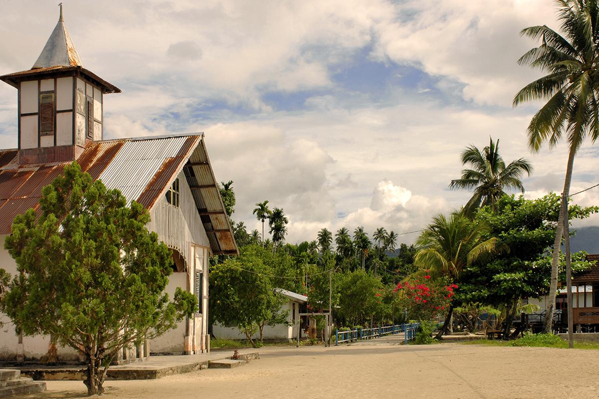 Arefi Village in Raja Ampat, Papua, Indonesia