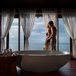 Spa Couple at Window